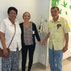 My wonderful parents, who deserve to ring that bell just as much as me!